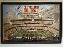 Cleveland Browns Signed Display