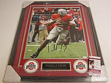 Terrell Pryor Signed Display