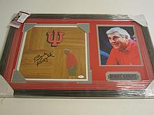 Bobby Knight Signed Floorboard