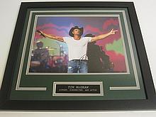 Tim McGraw Signed Display