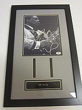 B.B. King Signed Display