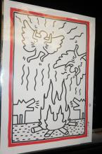 Keith Haring Ink Marker on Paper Drawing
