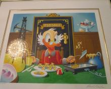 Donald Ducks - Breakfast of Tycoons - Carl Barks - no. 88 of 295 -Pencil signed with COA - 24 x 26 i