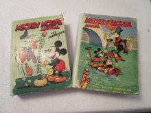 2 Mickey Mouse Annuals Books - 1930-1940 - It's Surprising and Still Sailing Merrily on