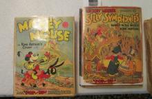 6 Books - 3 Mickey Mouse in King Arthur's Court and 3Silly Symphonies Babes in the Woods King Neptun
