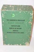 5-  Setof 4 Books - The Wonderful Worlds of Walt Disney - America, Worlds of Nature, Fantasyland
