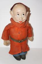 Dopey Doll - 1930s -12 inches - with metal - issue with face