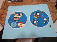 Mickey Mouse World- 30 x 36 inches - Silk Screen - Proof- Ernest Trova