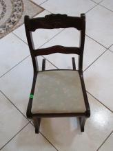 Vintage wooden Rocking Chair - Kids - mid Century - 22 Inches