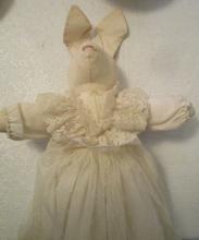 Vintage Rabbit Doll in Wedding Dress - Mid Century