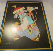 Jovan Obican - Original signed - Aryllic on Paper -18.5 x 23.5 Framed - Photographer