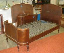 PAIR OF TWIN 1920'S BEDS WITH BOX SPRINGS