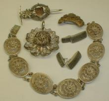 FILIGREE BRACELET, PENDANT AND OTHER JEWELRY