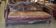 OLD HICKORY TANNERY SOFA. PRICE NEW $6998.00. 7'4