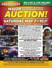 Big Adventures Family Entertainment Center Live and Online Auction