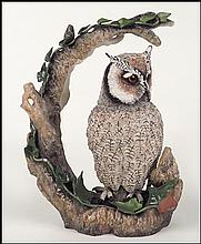 A BOEHM PORCELAIN 'WHITE FACED SCOPS OWL'.