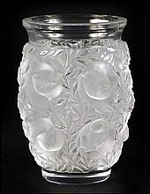 LALIQUE CRYSTAL 'BAGATELLE' VASE.