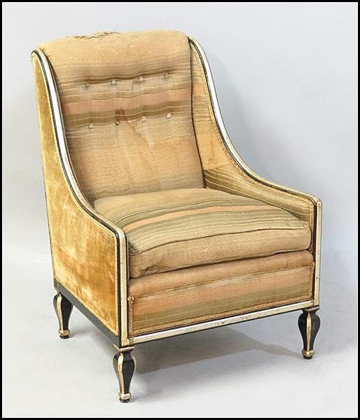 FRENCH ART DECO CLUB CHAIR.
