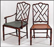 SET OF TEN ALTHORP COLLECTION REGENCY STYLE DINING CHAIRS.