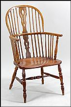 OAK WINDSOR CHAIR.