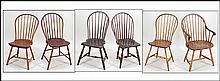 GROUP OF SIX WINDSOR CHAIRS.