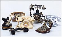 COLLECTION OF SIX PUSH BUTTON TELEPHONES.