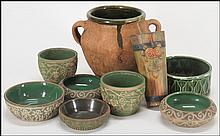 COLLECTION OF RED WING BRUSHWARE POTTERY.