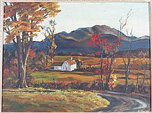 E. SMITH (20TH CENTURY) VALLEY FARM HOUSE.