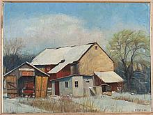 E. P. REESE (20TH CENTURY) BARNS WINTER, 1974.