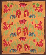 MEXICAN MULTICOLORED WOOL WEAVING.