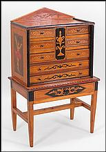 A MIXED INLAID CABINET.
