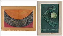 JULIAN MARTIN DE VIDALES (SPANISH, 20TH CENTURY) TWO COMPOSITIONS.
