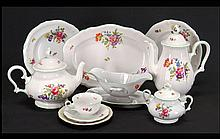 A ROSENTHAL PORCELAIN DINNER SERVICE IN THE CHIPPENDALE PATTERN.