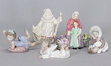 THREE LLADRO PORCELAIN FIGURES.