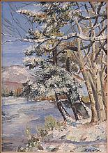 H. KEISTER (20TH CENTURY) SNOWY TREES.