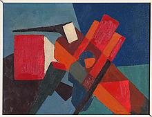 LUSTMAN (20TH CENTURY) UNTITLED ABSTRACTION.