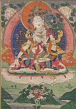 19TH CENTURY TIBETAN THANGKA.