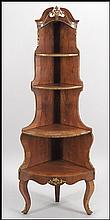 GERMAN EMPIRE MAHOGANY TIERED CORNER SHELF.