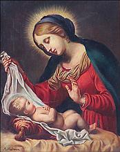 M. MARESCA (ITALIAN, 19TH CENTURY) MADONNA AND CHILD.