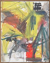 ARTIST UKNOWN (20TH CENTURY) TWO ABSTRACT COMPOSITIONS.