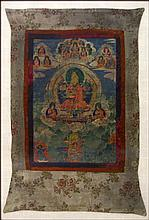 EARLY 19TH CENTURY NEPALESE THANGKA.