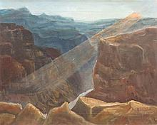M. A. VOUGHN (20TH CENTURY) SPLENDID CANYON.
