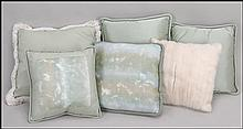 COLLECTION OF PILLOWS.