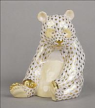 HEREND GUILD PORCELAIN MOTHER PANDA.