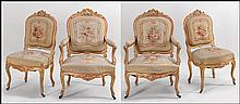 SUITE OF LOUIS XV GILTWOOD FAUTEUILS.