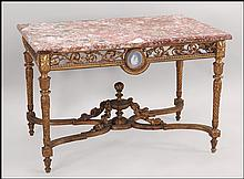 FRENCH LOUIS XVI GILTWOOD CENTER TABLE.