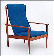 GRETE JALK LOUNGE CHAIR.