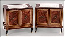 PAIR OF METZ FAUX FINISH NIGHTSTANDS.