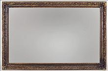 CONTEMPORARY PAINTED WOOD MIRROR.