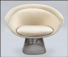 WARREN PLATNER FOR KNOLL LOUNGE CHAIR.